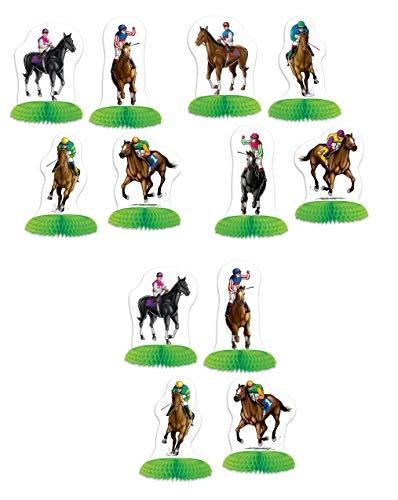 Beistle 53427 Horse Racing Mini Centerpiece, 12 Piece, 4¾