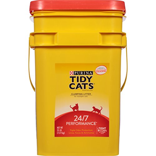 Purina Tidy Cats Clumping Litter 24/7 Performance for Multiple Cats 35 lb. Pail (Tidy Cat 35 Lb Cat Litter compare prices)