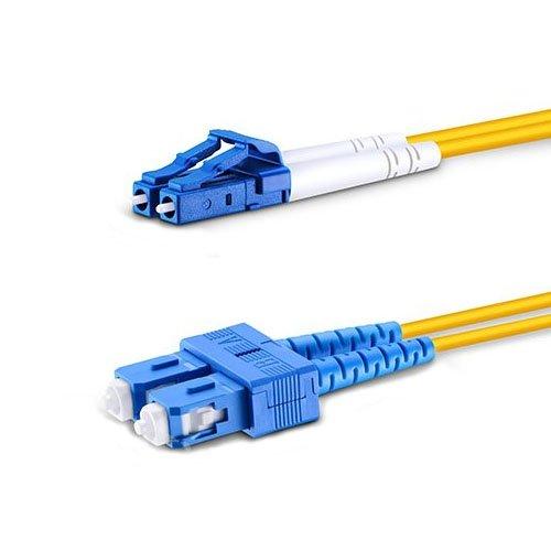 1m LC to SC Single Mode Fiber Patch Cable Duplex OS2 9/125