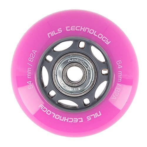 Nils Extreme Inliner-Rollen Inline Skates Rollen Wheel # ABEC 7 mit guter Haftung Rollenset f/ür drinnen /& drau/ßen mit Lager Rosa