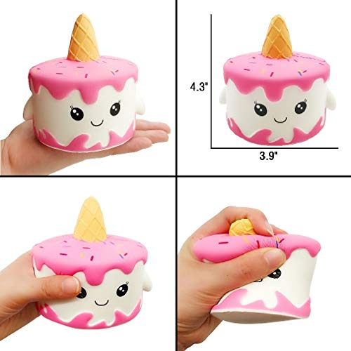 Yonishy Unicorn Squishies Toy Set - Jumbo Narwhale Cake,Unicorn Cake,Unicorn Donut,Dog,Unicorn Horse,Ice Cream Cat Kawaii Slow Rising Squishy Toys for Kids Party Favors(6 Packs) by Yonishy (Image #4)