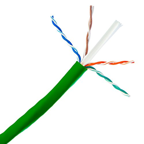(1000ft Green Cat6 UTP Solid Copper 23AWG 500MHz High Speed LAN Network Ethernet Wire Internet Cable UL ETL )
