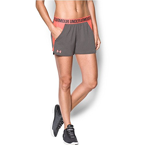 Under Armour Women's New Play Up Shorts Carbon/London Orange/London Orange Shorts by Under Armour