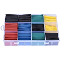 ValueHall 530 pcs Heat Shrink Tubing, Polyolefin Material, 2 : 1 Heat Shrink Ratio, Heat Shrink Tube Assortment Wire…