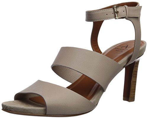 Aquatalia Women's Basha Soft Tumbled Calf Heeled Sandal, Taupe, 5.5 M M US