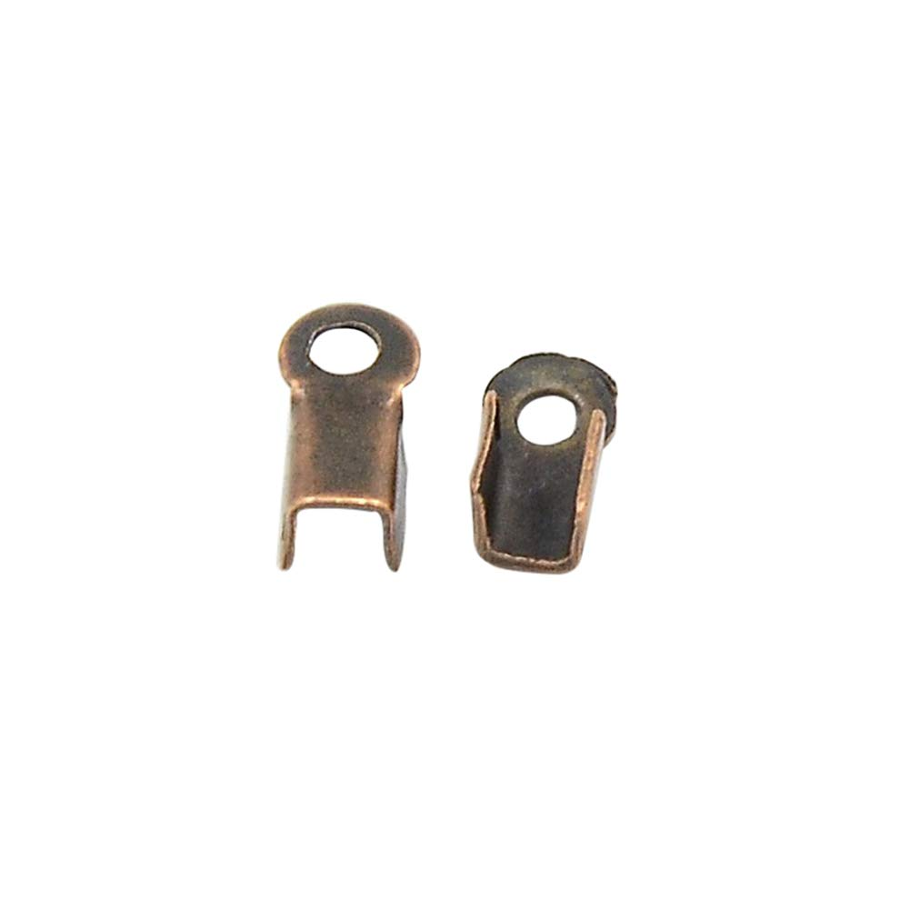 3mm Wide Hole 1.2mm ARRICRAFT 5000pcs Iron Cord Ends Terminators Crimp End Tips Folding Fasteners for Leather Cord Jewelry Makig