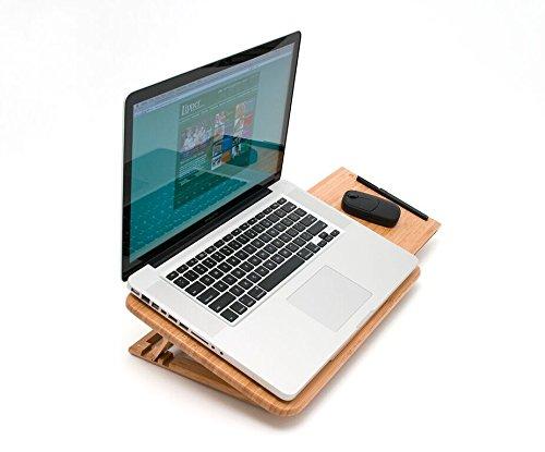Lipper International 1888 Bamboo Wood Expandable Laptop Stand, Slatted by Lipper International (Image #2)
