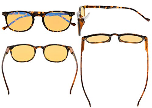 Slim Vintage Computer Readers Reading Glasses Anti Reflective Anti Glare Anti Eyestrain Lens for Digital Screens, UV400 Protection - 0.00x in Tortoise by Eyekepper (Image #1)