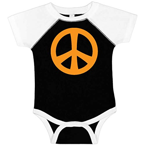 inktastic - Peace Sign Symbol Infant Creeper 6 Months Black and White 57d9
