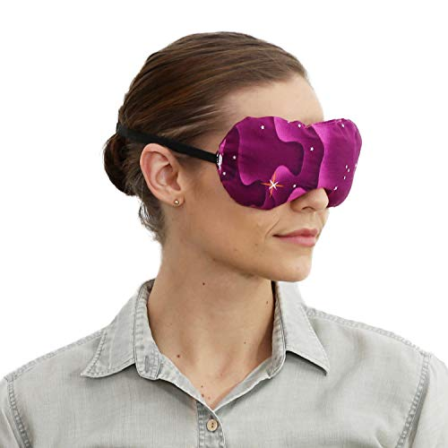 Eye Mask - Lavender Eye Pillow - Natural Relaxation - Stress Relief (Burgundy Stars)