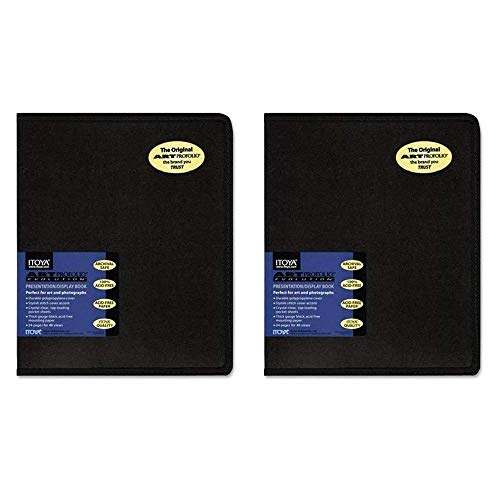 Durable polypropylene cover Stylish stitch cover accentClear, top-loading pocket sheets Thick gauge black, acid-free mounting paper 24 pages for 48 views
