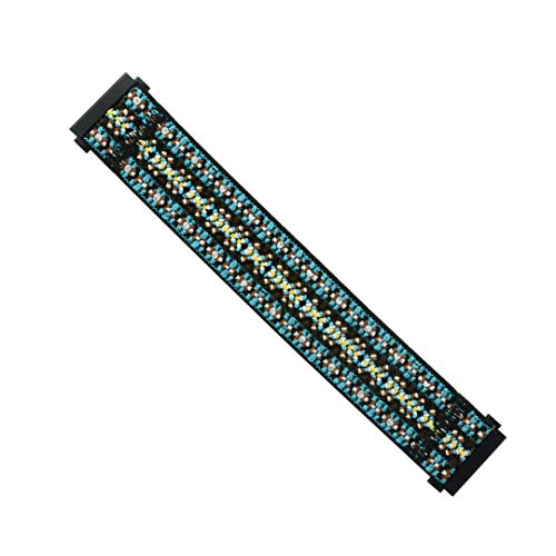 Tefeca Orchid Embroidery Pattern Elastic Compatible/Replacement Band for Fitbit Versa (Black, Wrist Size : 5.5-5.9 inch - Orchid Embroidery