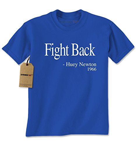 Mens Fight Back Huey Newton T-Shirt X-Large Royal (Harriet Tubman Costumes)