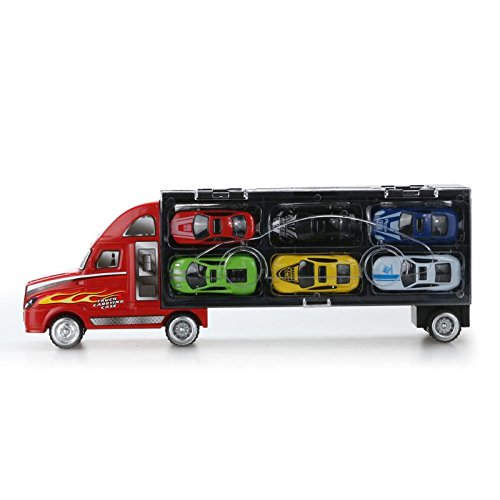 vinmax Truck Sets Alloy Transport Car Carrier Toys 13 Pcs / Set Children Birthday New Years Gaming Play Toys Gifts by vinmax (Image #2)