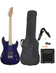 Full Size Blue Electric Guitar with Amp, Case and Accessories...