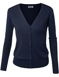 BIADANI Women Button Down Long Sleeve Basic Soft Knit...