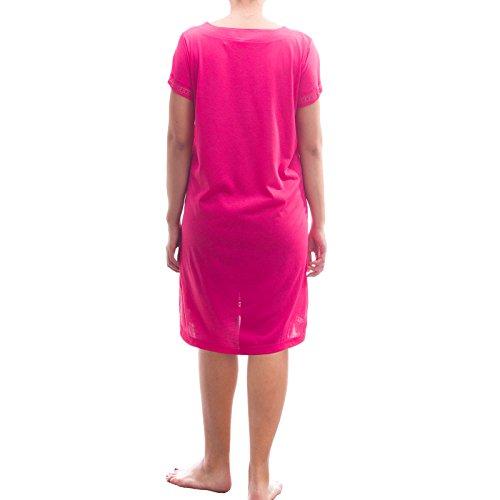 Lucky manga corta Noche Camisa Camiseta De Dormir con punta Rosa