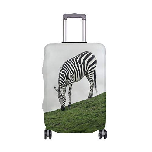 Zebra Eat Grass Slope Balloon suitcase cover elastic suitcase cover zipper luggage case removable cleaning suitable for 26