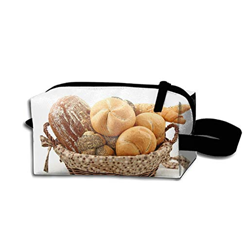 Batch Bread Rolls Basket Travel Cosmetic Bag Portable Makeup Pouch Pencil Holders