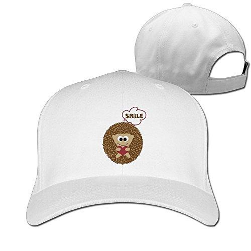Porcupine Fancy Dress Costume (Sandwich Peaked Cap 100% Cotton Cute Hedgehog Smile Cap Adjustable Hip HopNew Design Cool Hat)