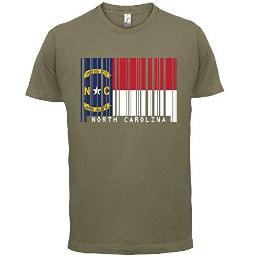 North Carolina / Nord-Carolina Barcode Flagge - Herren T-Shirt - Khaki - XL
