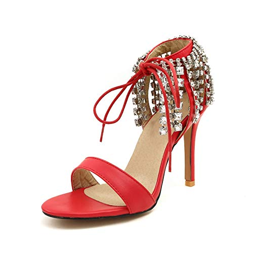 HOESCZS 2018 Große Größe 32-46 Trendy Kristalle Party Hochzeit Schuhe Frau Sandalen Dünne High Heels Beste Qualität Schuhe Frauen, B07PB3BY7P Sport- & Outdoorschuhe Das hochwertigste Material