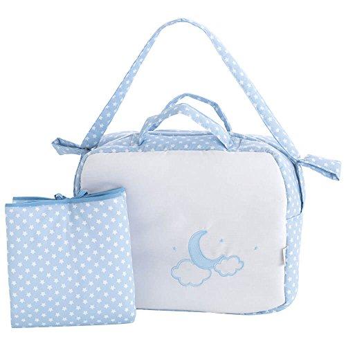 Bolso Maternal + Cambiador Moon Azul Pekebaby