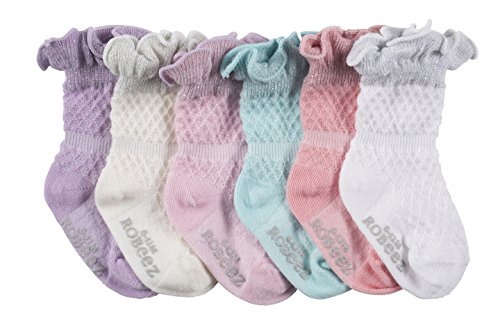 Robeez Baby 6pk Girls Pretty in Lace, Sparkle/Assorted Pastels, 2T-4T ()
