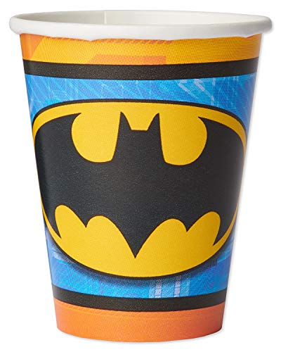 American Greetings Batman Party Supplies, Disposable 9 oz. Paper Cups, -