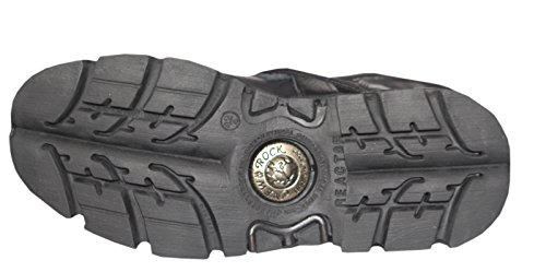 Noir Biker Leather Classic Rock Toute Unisexe S18 New Gothic Métallique taille Boot 391 la qxXTwHxZU