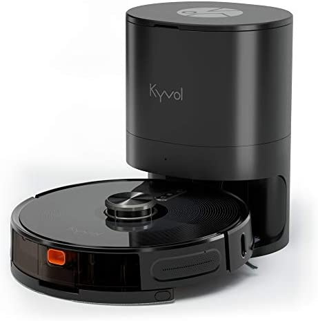 Kyvol Cybovac S31 Robot Vacuum and Mop, Automatic Dirt Disposal, Lidar Navigation, 3000Pa Suction Robotic Vacuum Cleaner with Mapping, 240 minutes Runtime, Works with Alexa, Ideal for Pet Hair, Carpets