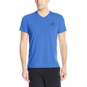 adidas Men's Training Ultimate Short Sleeve V-Neck Tee, Collegiate Royal/Collegiate Royal, Small