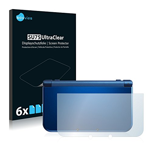 6x Displayschutzfolie für Nintendo New 3DS XL Rückseite Folie Schutzfolie Displayfolie - Klar