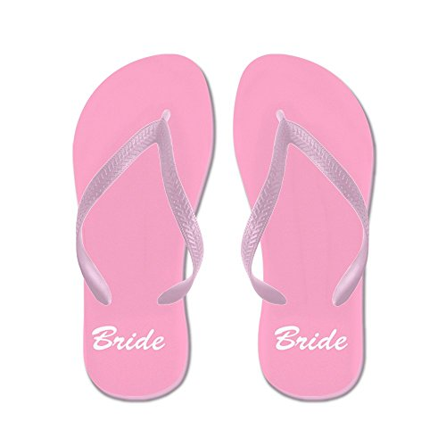 CafePress Bride and Groom Flip Flops - For Her - Flip Flops, Funny Thong Sandals, Beach Sandals by CafePress