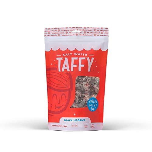 Taffy Shop Black Licorice Salt Water Taffy - 1/2 LB Bag