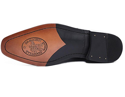 Hombres Formal Negocio Boda Negro Cuero Zapatos Puntiagudo Dedo del pie Hebilla Oxford Ponerse marrón para Hombres Fiesta tamaño 38-44 black