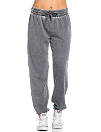 Comfy Pigment Washed Drawstring Jogger Pants in Gray