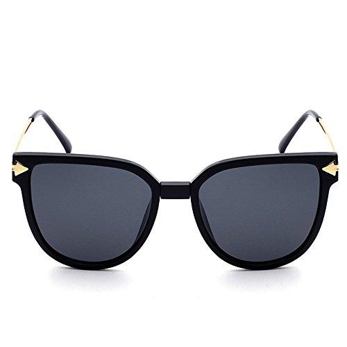 polarizadas cenizas de sol polarizadas negras metálica mitad de de espejo Uv la Gafas Gafas 2018TR90 exterior gafas marco sol de negro gafas Sun sol n0Wqxpg