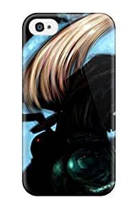 Anti-scratch And Shatterproof Anime Blonde Girlnytail Phone Case For Iphone 4/4s/ High Quality Tpu Case