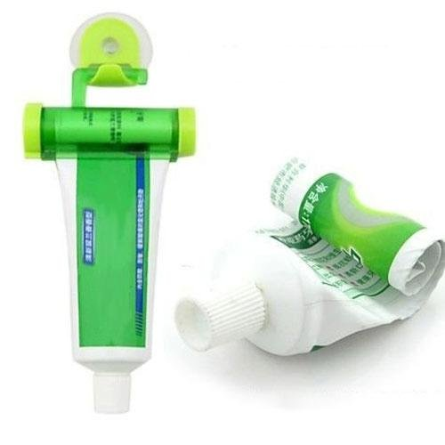 Zhuotop plastica rotolamento Squeezer dentifricio tubo partner Holder Sucker Hanging