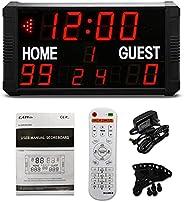 GAN XIN LED Indoor Professional 12/24/30 Seconds Shot Scoreboard Electronic Digital for Basketball, Baseball/F