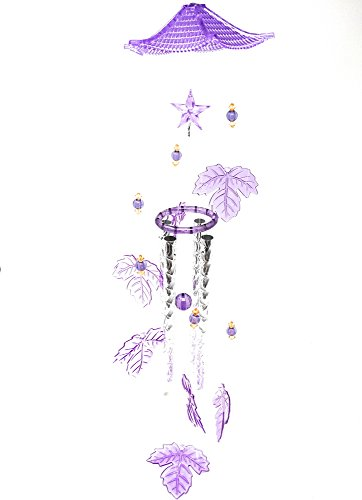 THY COLLECTIBLES Gorgeous Decorative Acrylic & Aluminum Wind Chime for Patio, Garden, Terrace and Balcony - Beautiful Indoor Outdoor Decor Purple (Gorgeous Decorative Acrylic)