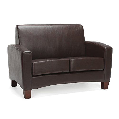 Essentials Traditional Armed Loveseat, Brown (ESS-9051-BRN)