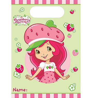 Strawberry Shortcake Loot Bags - 8 Counts by MyBirthdaySupplies (Shortcake Strawberry Loot Bag)