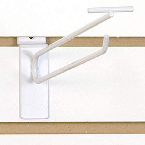 Count of 100 White Finished Slatwall Scanner Hook 10 Inch