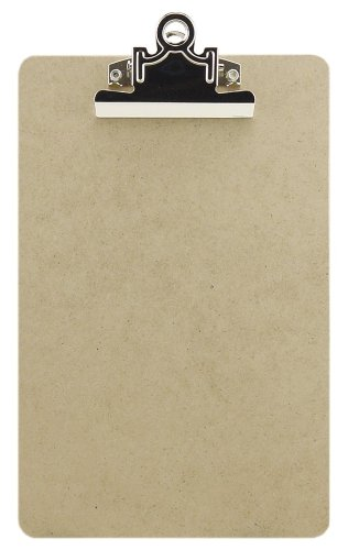 Charles Leonard Memo Size Masonite Clipboard, Two Sided Smooth, Brown, 6 x 9.5 Inch, 1 Each (89001)