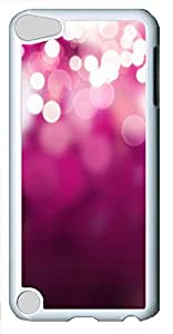 iPod 5 Case White dot pinks PC Custom iPod 5 Case Cover White