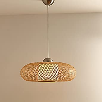Zqq Bambus Lampe Bambus Kunst Lampe Lounge Home Garten Leuchter