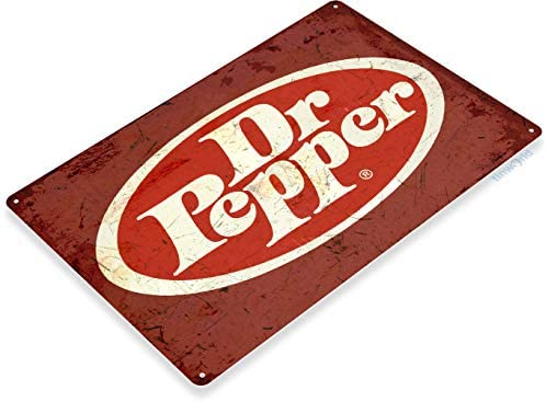 Amazon Com Tinworld Tin Sign 12 X 18 Dr Pepper Old Metal Decor