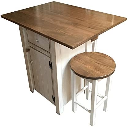 Small Kitchen Island Set With 2 Bar Stools Counter Height Amish Made In Usa Amazon Ca Home Kitchen
